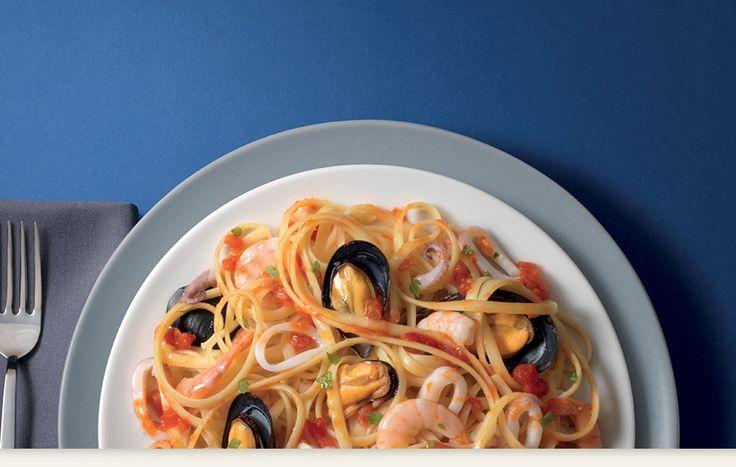 Spaghetti med skalldyr