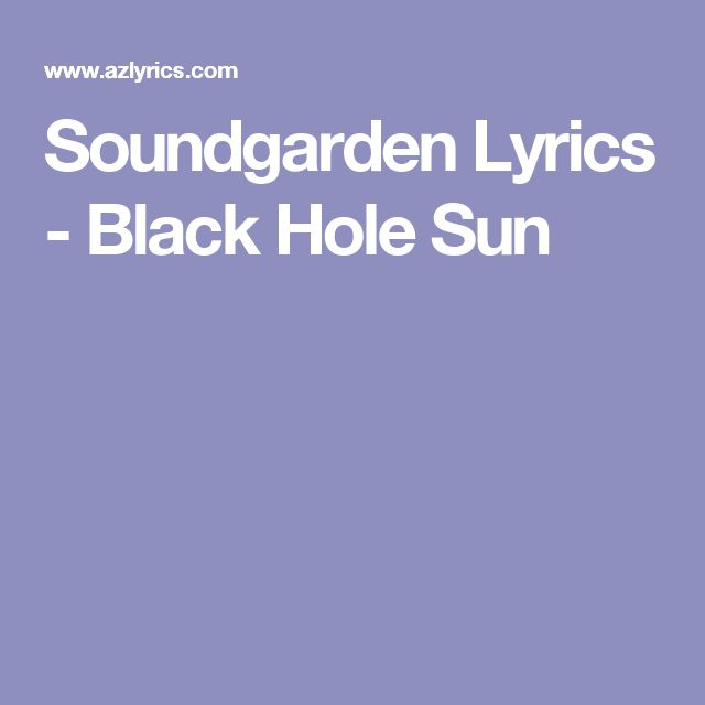 black holes lyrics - photo #17