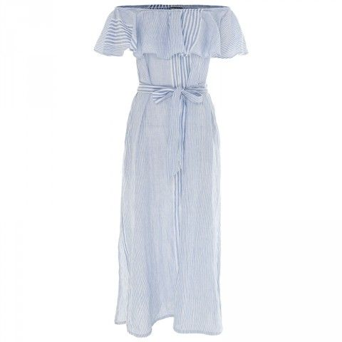 Poetry Joanie Stripe Ruffle Maxi Dress