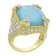 Judith Ripka Medium Turquoise Cushion Ring
