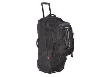 Black Wolf Grand Royale 90L Wheeled Travel Backpack & Detachable Daypack - Black