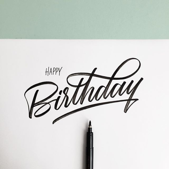 To Whom It May Concern. Have a good day! Pen: Zebra brush #whichpendidyouuse #typography #birthday