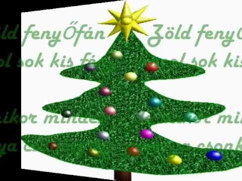 Zöld fenyőfán táncol sok kis fény-Karácsonyi gyermekdal.wmv
