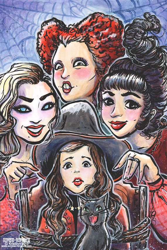 Print 5x7 8x10 11x17- It's Just A Bunch Of... - HOCUS POCUS - Sanderson Sisters - Salem Witches on Etsy, $10.00