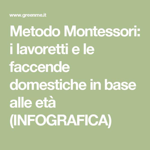 Metodo Montessori: i lavoretti e le faccende domestiche in base alle età (INFOGRAFICA)