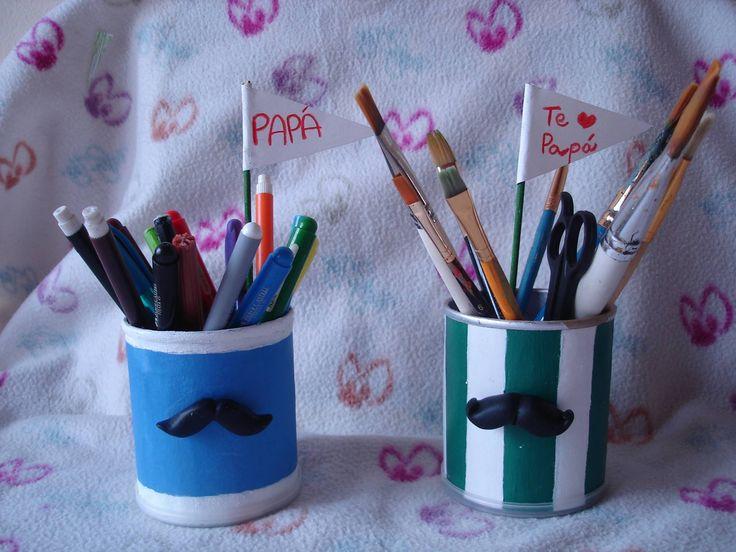 Cómo hacer un Lapicero de Mostacho. How to make a pencilholder