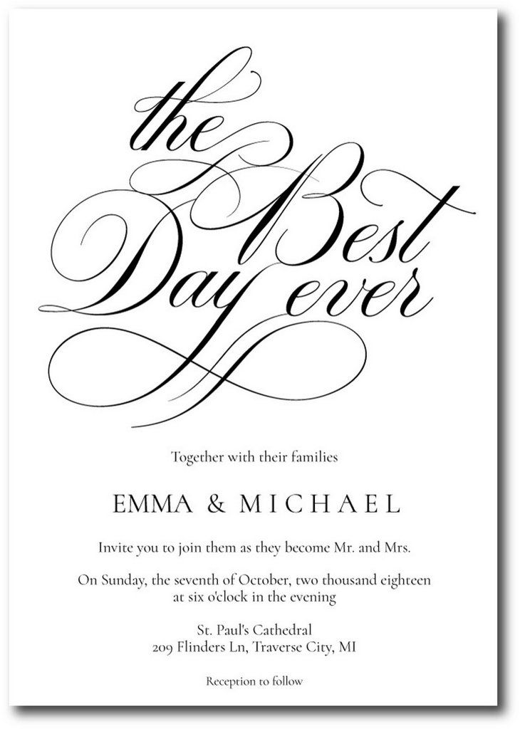 Best Day Ever Wedding Invitations Fun