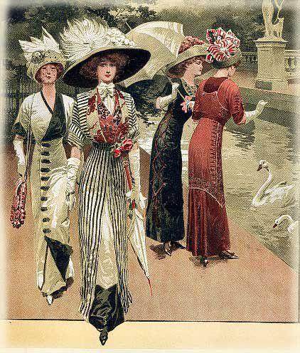 INSPIRING 1910's EDWARDIAN LADIES CLOTHING: