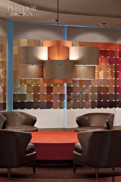 Maya Romanoff Chicago Showroom Magnetized Sample Colorwall