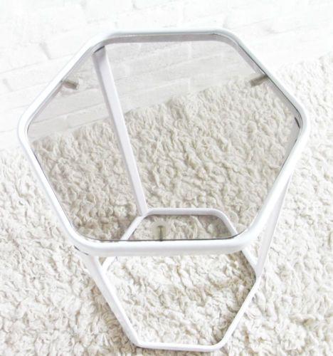 table sellette en m tal et verre vintage ann es 70 design 1970. Black Bedroom Furniture Sets. Home Design Ideas