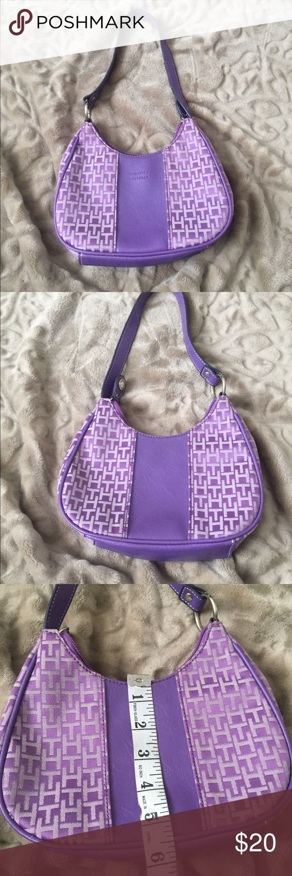Super Cute Tommy Hilfiger Purple Purse. Like New, No Stains/Tears, perfect companion for the also hard-to-find purple Shoes. Very Cute!!! Tommy Hilfiger Bags Mini Bags