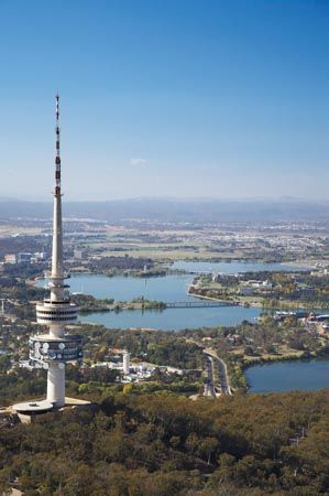 Telstra Tower, on the summit of Black Mountain / Canberra, Australian Capital Territory