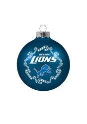 Detroit Lions Traditional Glass Ball Ornament