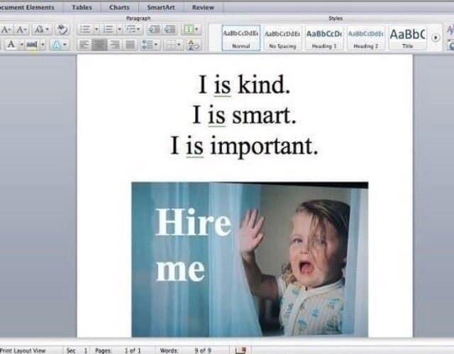 'Put together a professional, well organized résumé that still makes you stand out. Have a few people proofread it, because spelling and grammatical errors instantly make me feel less inclined to hire someone.'—e4b3820361'Look at it this way: If you cannot correct a simple mistake in your own CV or portfolio, how can someone who's hiring be sure you'll take good care of their clients?' —citlaliromerorGrammar and coherent writing skills are essential. Take the time to review your cover letters...