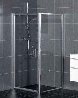 Bruynzeel Bella draaideur // douche douchecabine badkamer sanitair // bathroom shower enclosure hinge door // salle de bain porte pivotante