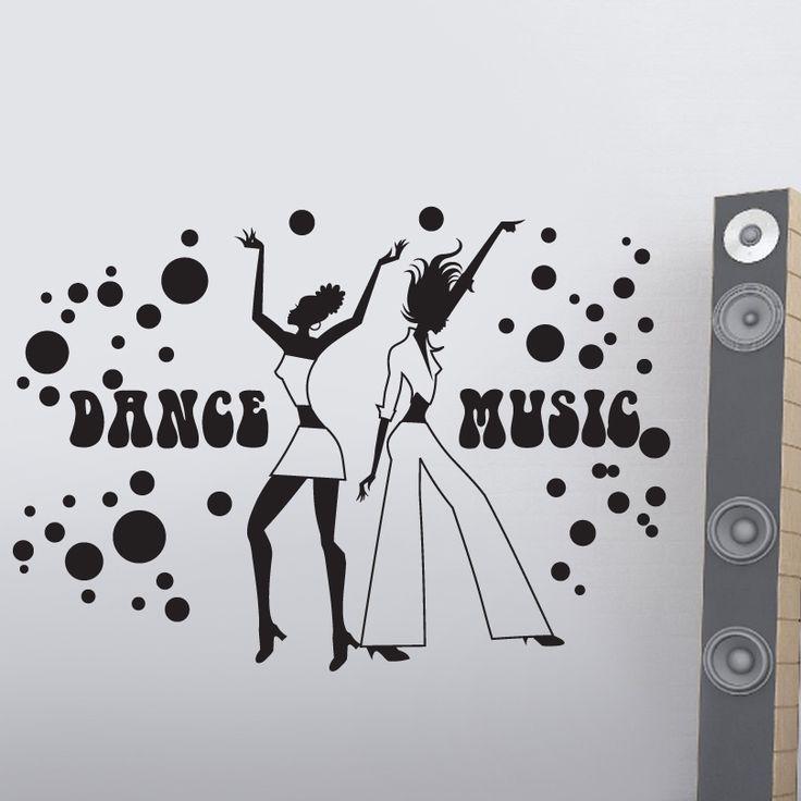 Dance Music Duvar Sticker :: GelKardesimGel.com