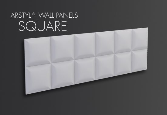 ARSTYL® Wall Panels SQUARE/ H 380 x W 1135 mm / Tmax 30 mm