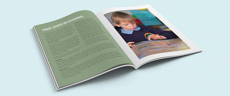 Prospectus design for primary schools - beautiful, tailored prospectus designs and copywriting, leaflets, banners, signage, stationery, websites.