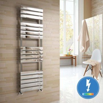 1600x450mm - Francis Thermostatic Flat Panel Electric Towel Radi [PT-RE85] - £299.99 : Platinum Taps & Bathrooms