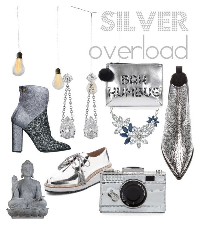 """Silver overload"" by olgaelizabeth on Polyvore featuring Universal Lighting and Decor, Loeffler Randall, Acne Studios, Lara Hampton, Topshop and Kate Spade"