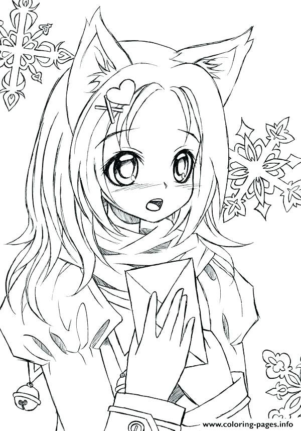 Cute Girl Anime Coloring Pages Free Printable New Clip Arts Chibi Mermaid Coloring Pages Cartoon Coloring Pages Cat Coloring Page
