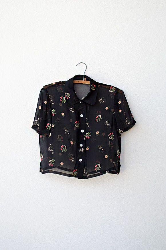 vintage floral blouse   Hortense Buds Blouse