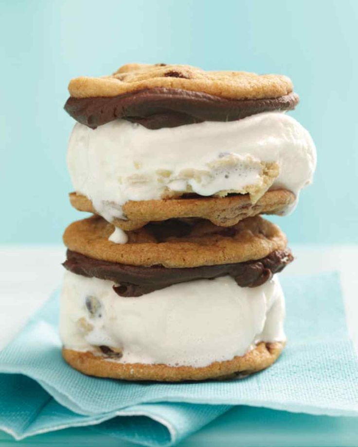 Chocolate Chip Cookie Ice Cream Sandwiches | Martha Stewart Living ...