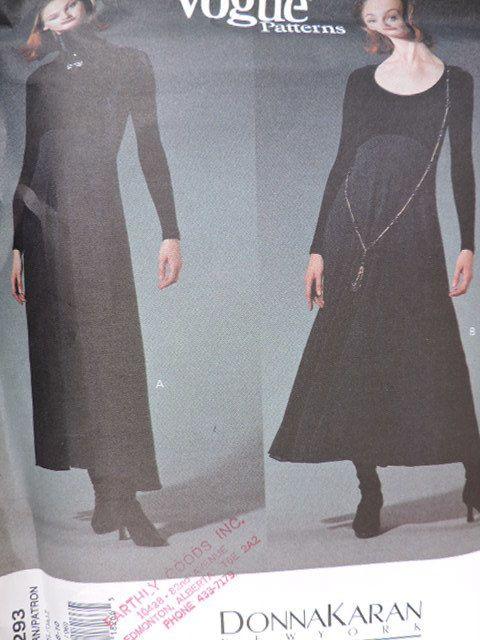 SeeSallySew.com - Donna Karan American Designer Dress Vogue 1293 Pattern Sz. 6 - 10 , $10.00 (http://stores.seesallysew.com/donna-karan-american-designer-dress-vogue-1293-pattern-sz-6-10/)
