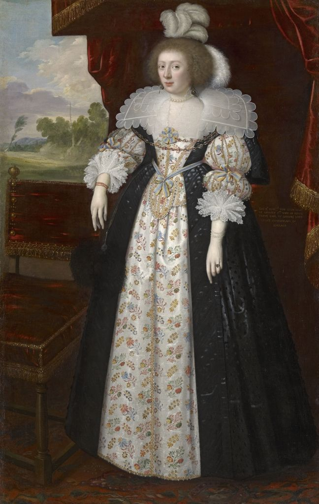 Martha Bertie (née Cokayne), Countess of Lindsey (1605 – 1641), painted circa 1627 by George Geldorp