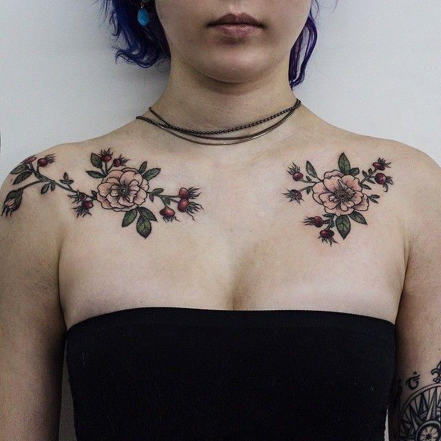 Wild roses a/ symmetry by Olga Nekrasova, Russia