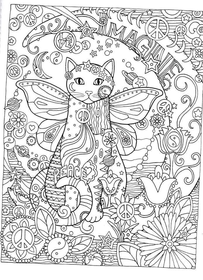Cat Coloring Pages For Adults To Print Furthermore Worksheet In Excel ...