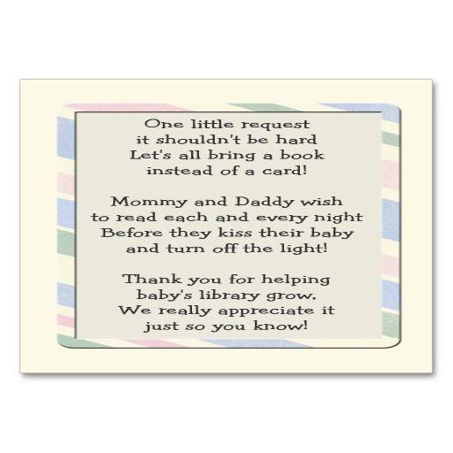 baby shower book request poem