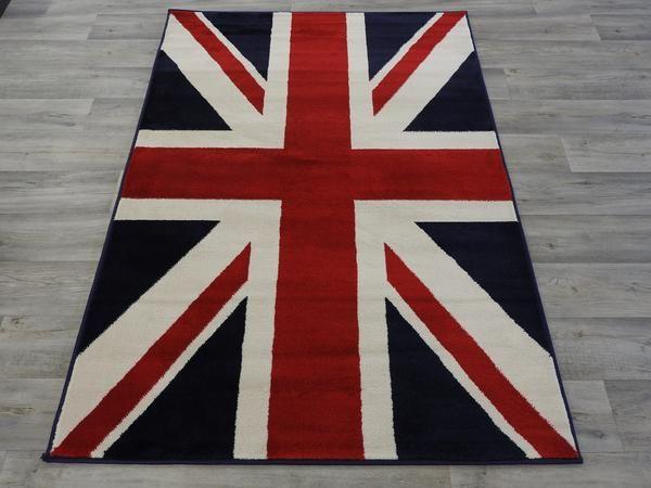 Union Jack Flag Rug Size: 120 x 170cm