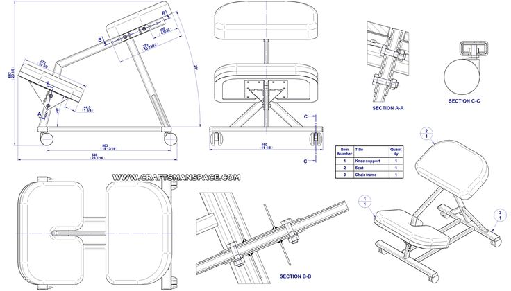 Kneeling chair plans