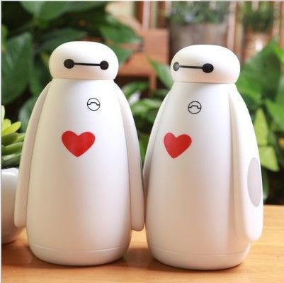 300ml stainless steel mug glass cup Thermos Bottle Lovely Cute Animal Cartoon fashion Vacuum Flasks Insulated Mug Water Cup