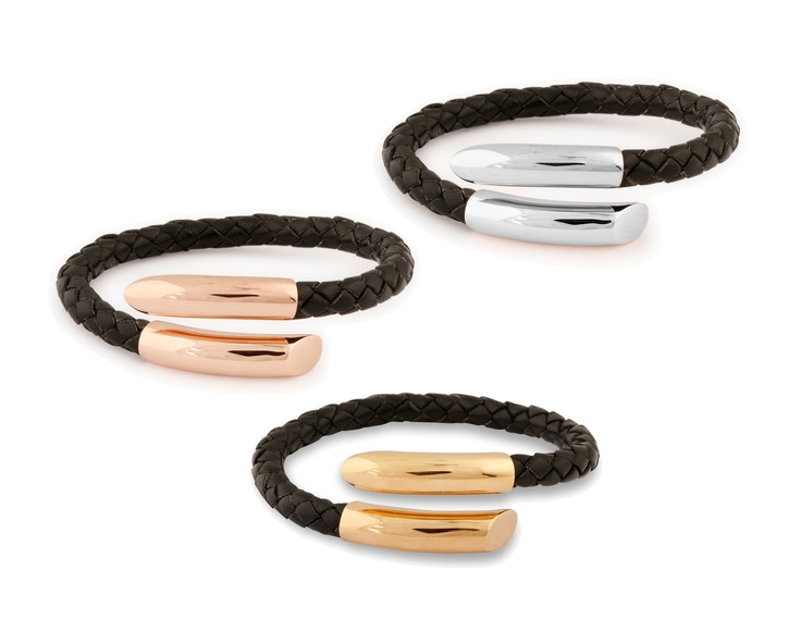 Our latest exclusive leather bracelets can be moulded to the fit any wrist size.