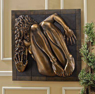 Contemporary Bronze Finish Nude Female Wall Art Sculpture Decor By  EttansPalace. $117.97. Break Free