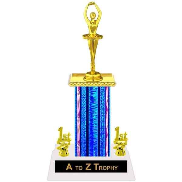 "free engraved plate and your choice of column color 10/"" Ballerina Dance Trophy"