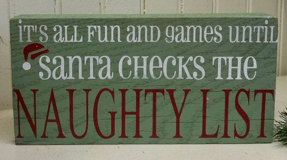 It's all fun and games... Holiday Sign / by ThePaintedSignCo
