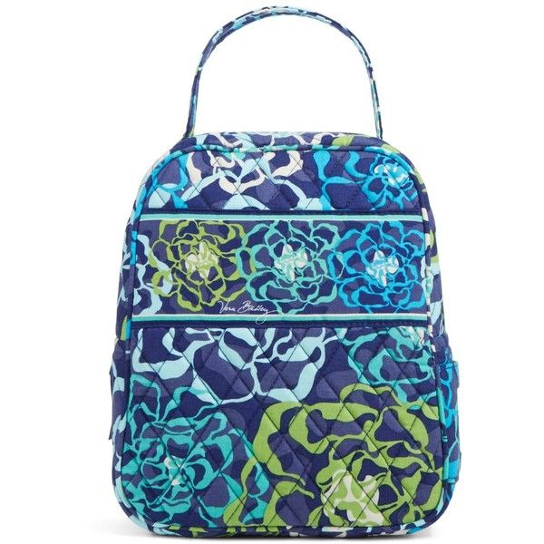 Vera Bradley Lunch Bunch Bag in Katalina Blues ($34) ❤ liked on Polyvore featuring home, kitchen & dining, food storage containers, bags, accessories, katalina blues, lunch bags, vera bradley lunch bag, vera bradley and lunch thermos