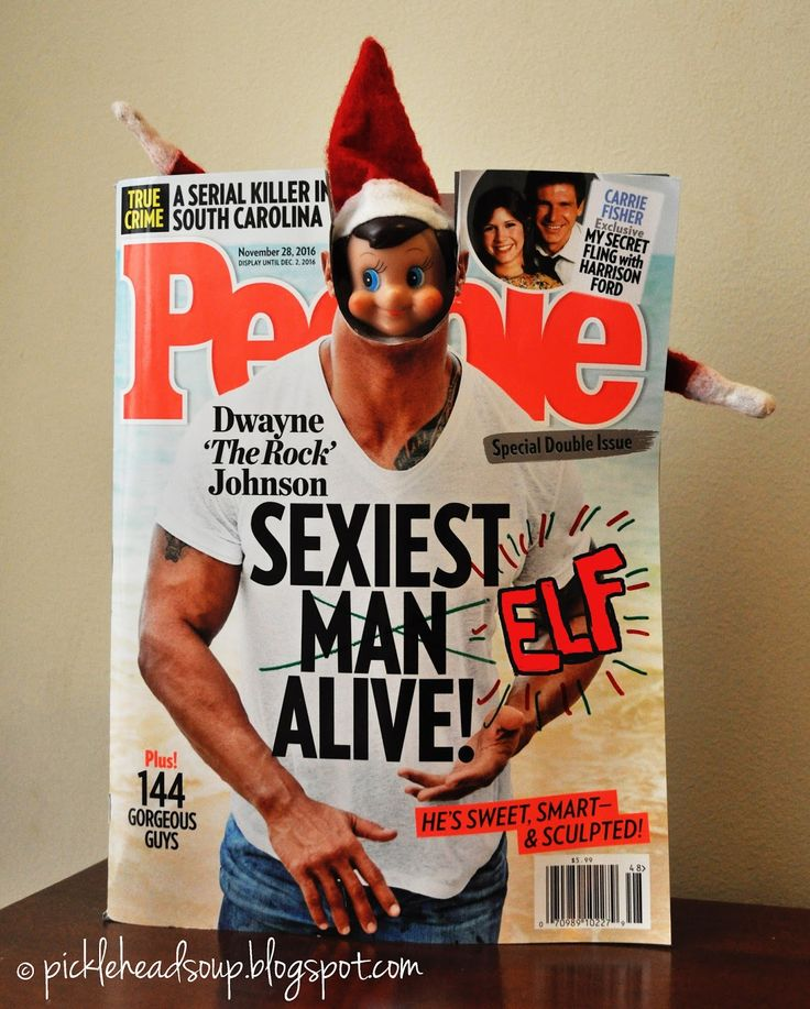 What a a great accomplishment for Smarty the Elf!  He's made it on the cover of People Magazine's Sexiest Man Alive issue.  I bet all of th...