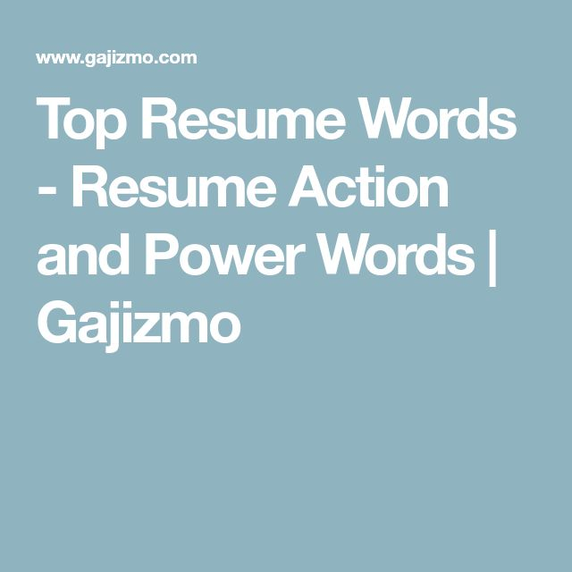 top resume words