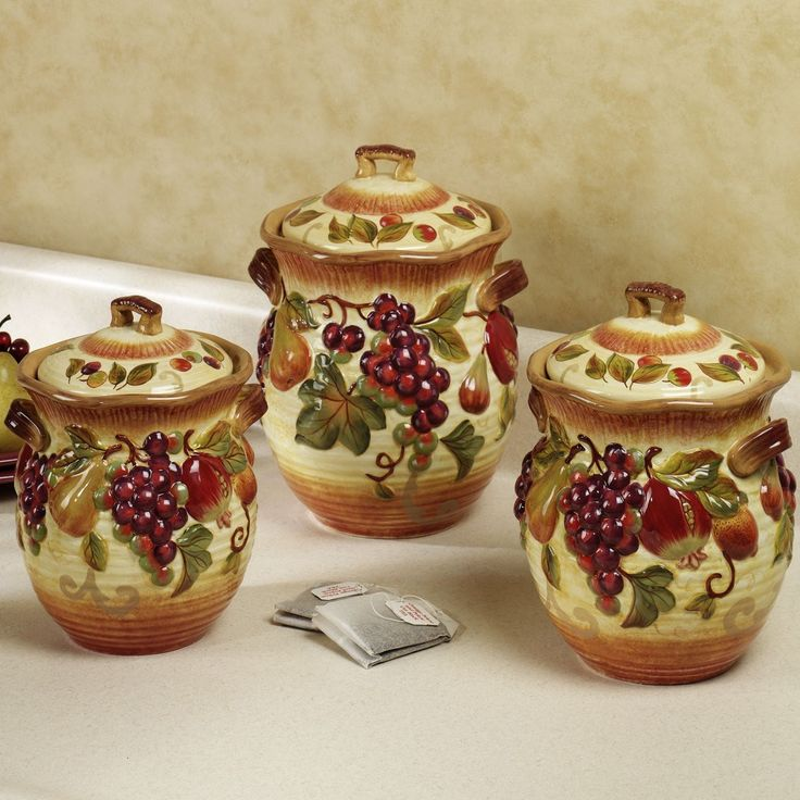 1000 ideas about canister sets on pinterest coffee tuscan collection deluxe 4 piece canister set free