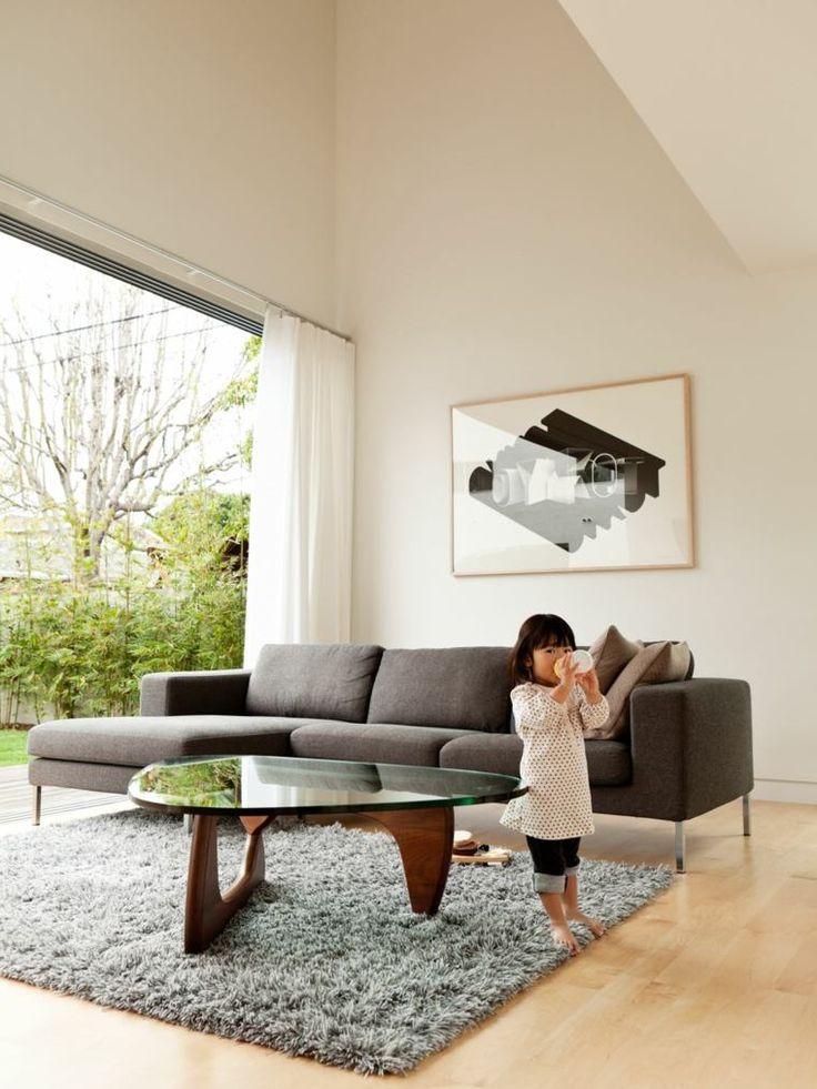 table basse Noguchi et intérieur de design moderne
