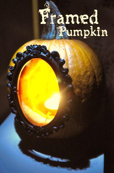 halloween crafts: diy framed pumpkins | make handmade, crochet, craft/ very cool