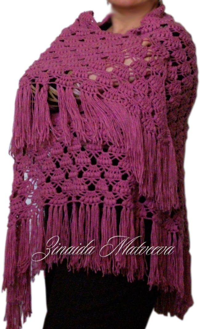 Вязание - моё хобби: Шаль цвета фуксии