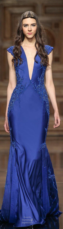 tony ward couture - Robe Bleu Electrique Mariage