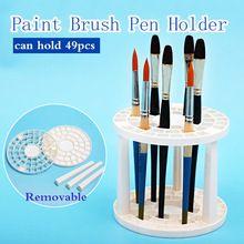 Bgln Paint Brush Pen Holder 49 Agujeros Pluma Estante de Exhibición Sostenedor del soporte de Apoyo de Pintura Cepillo Titular de La Pluma De Dibujo Arte suministros(China (Mainland))