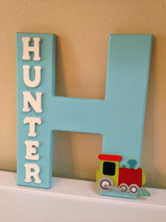 Custom name decor. Good idea for future kids!