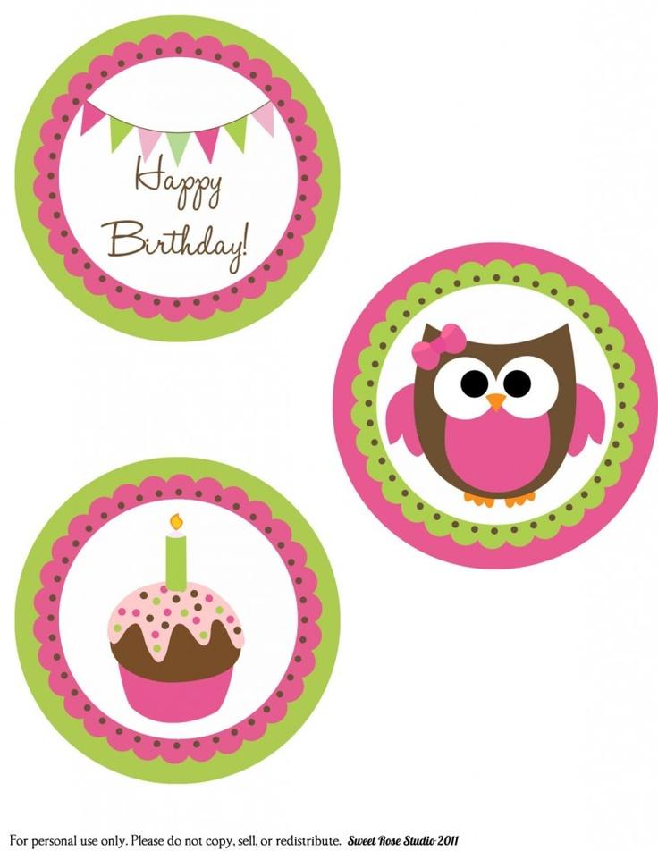 Free Owl Printables - Owl Party ;)